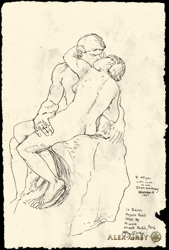 Study of Rodin's The Kiss