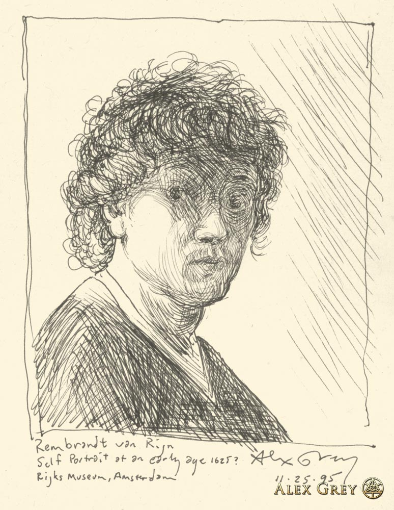 Study of Rembrandt Self-Portrait