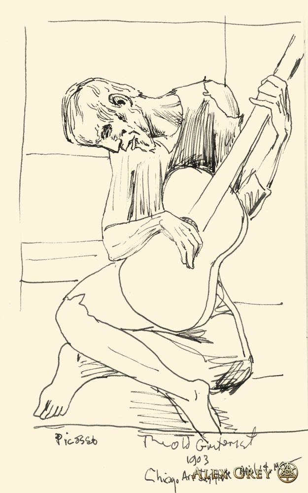 Study of Picasso's The Old Guitarist