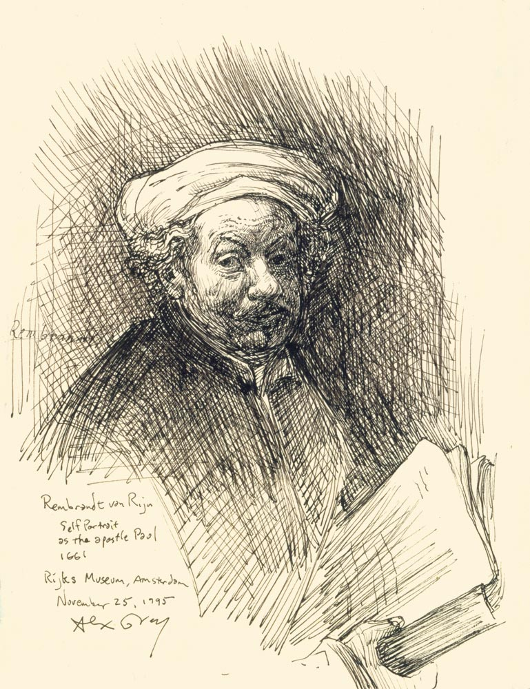Study of Rembrandt Self-Portrait As Paul
