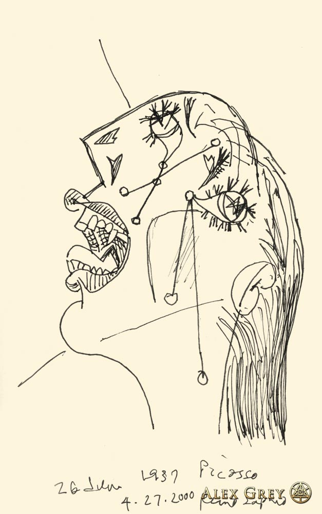 Study of Picasso's Crying Woman 2