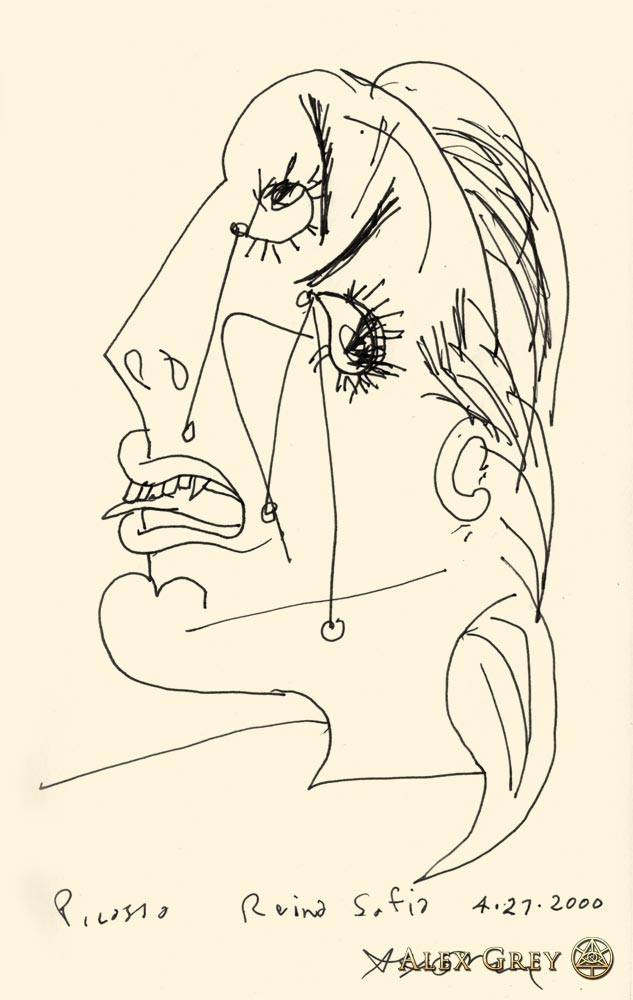 Study of Picasso's Crying Woman 1