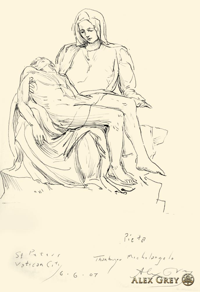 Study of Michelangelo's Pieta