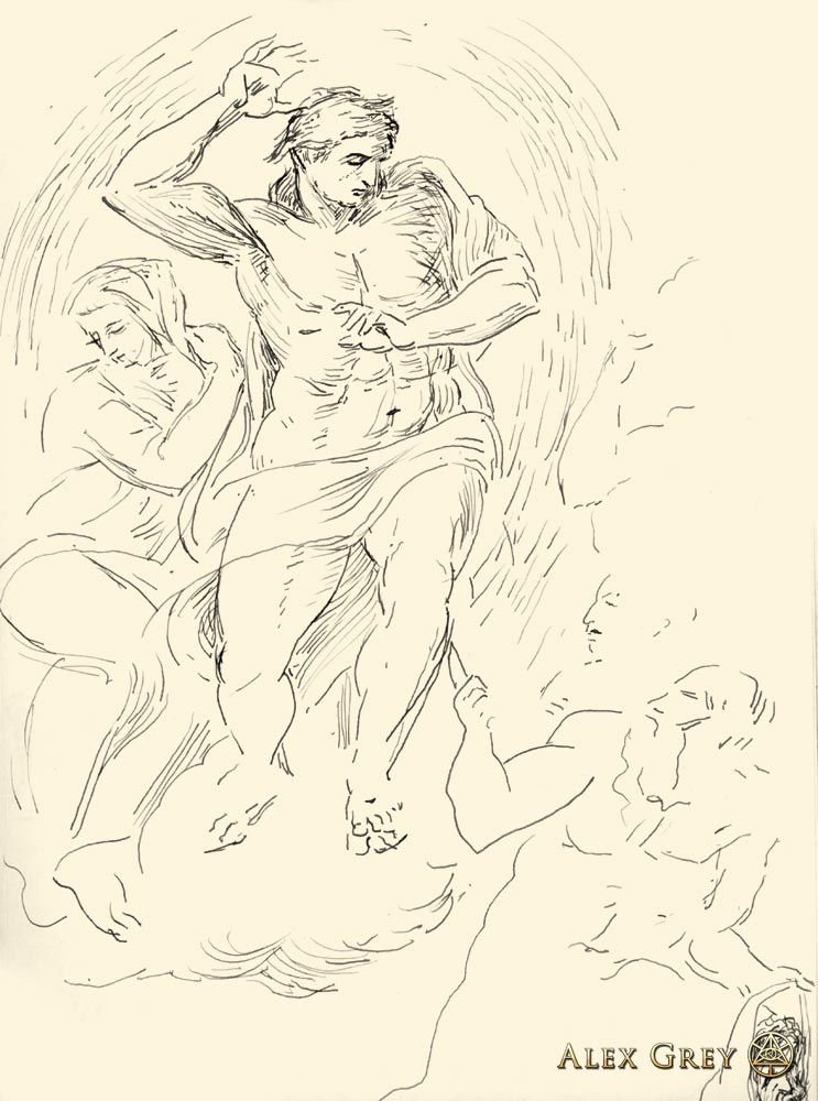 Study of Michelangelo Last Judgement