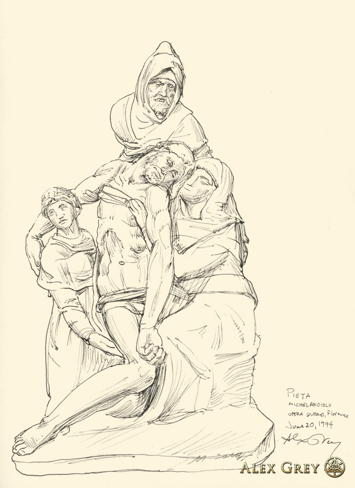 Study of Michelangelo Pieta