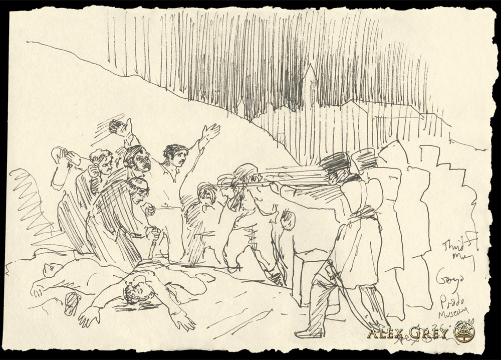 Study of Goya's Third of May