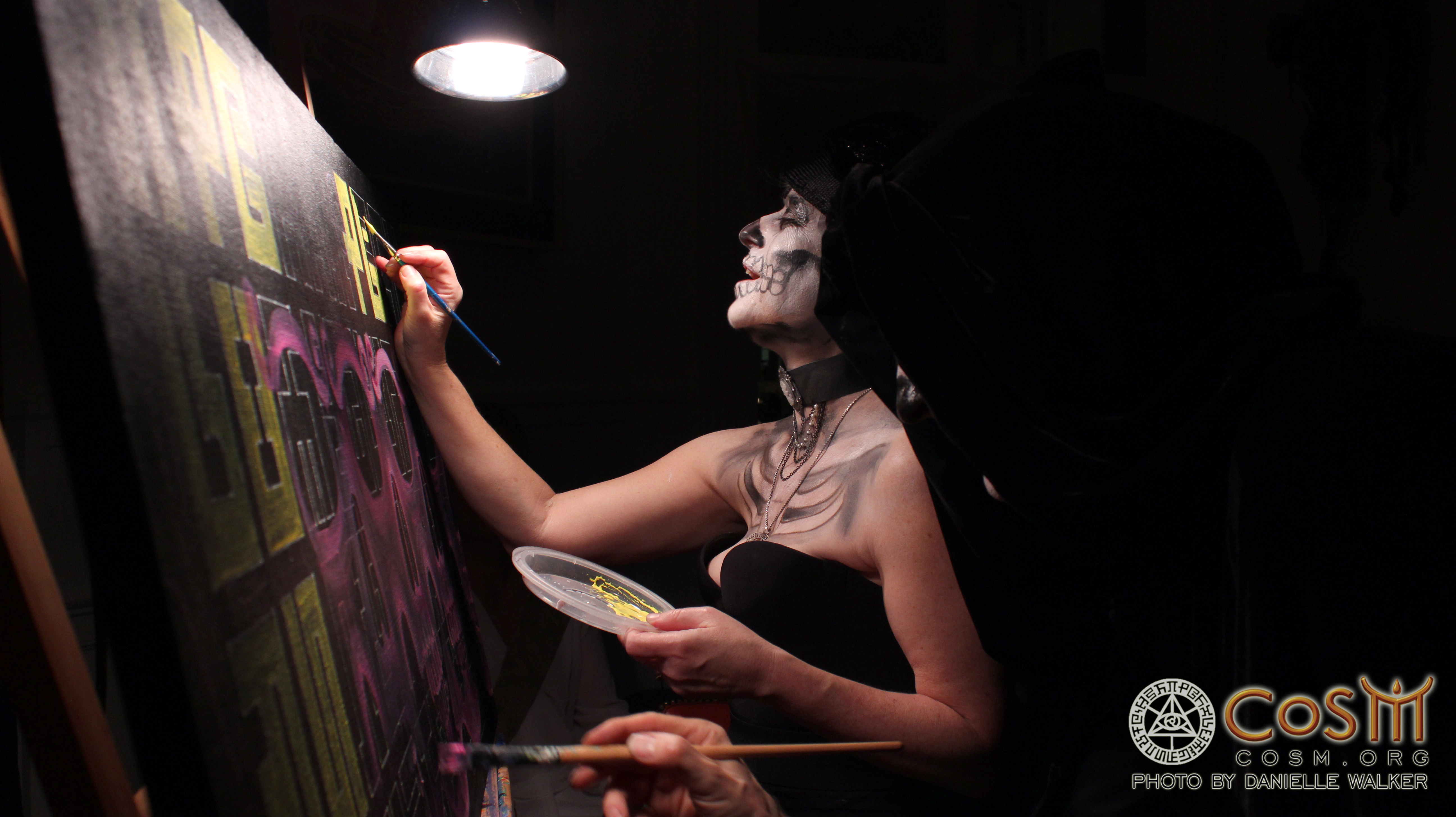 allyson live painting demons and deities