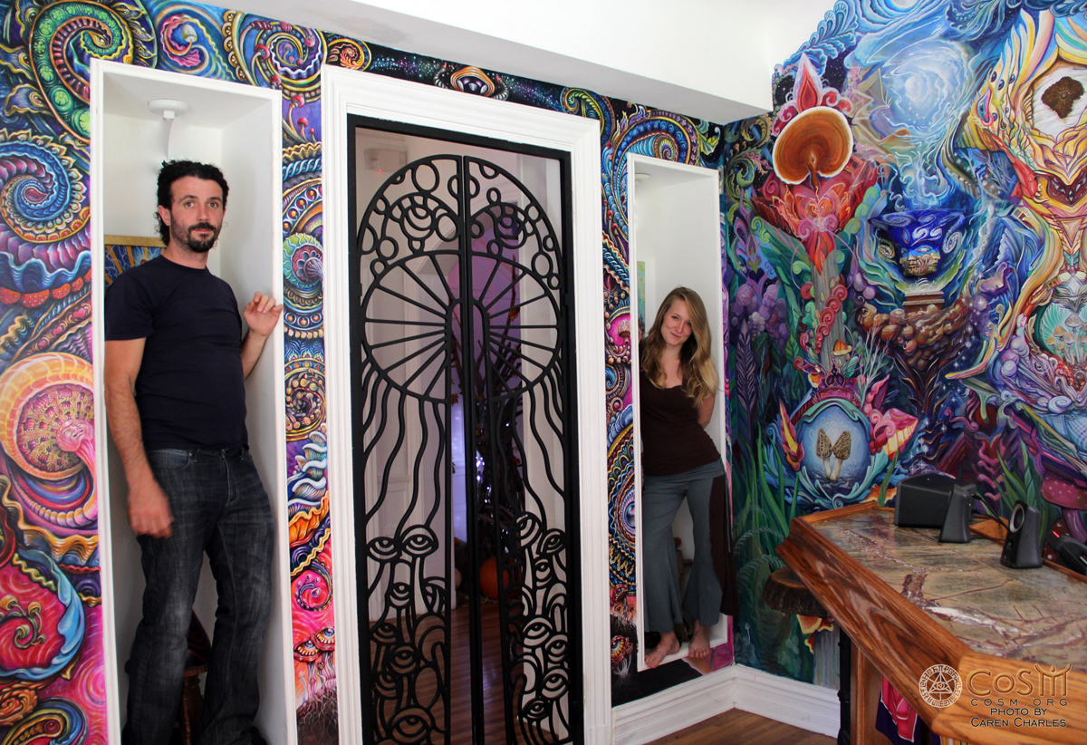 randal-roberts-morgan-mandala-mushroom-cafe-mural-visionary-artist-painter