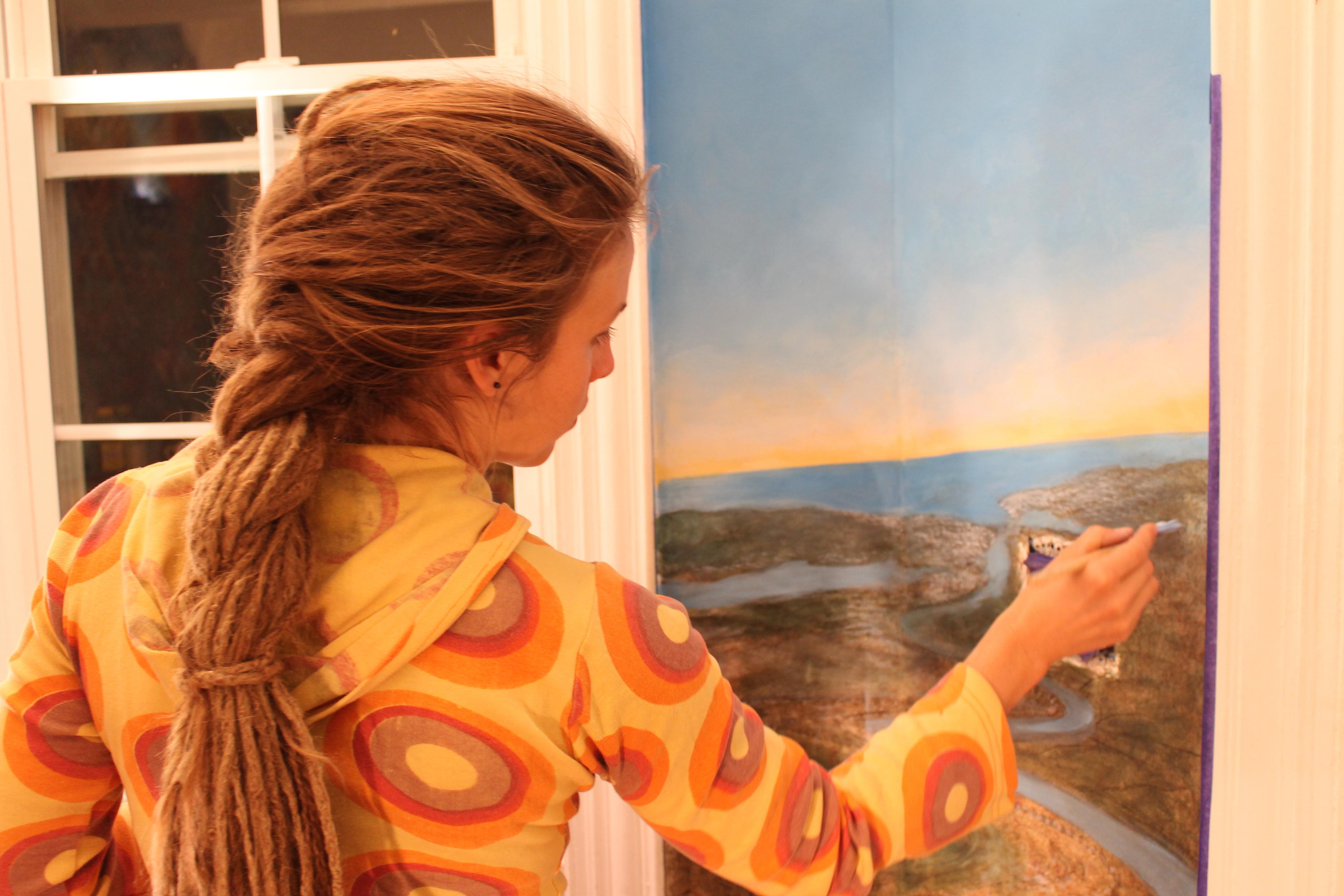 amanda sage paints mushroom cafe