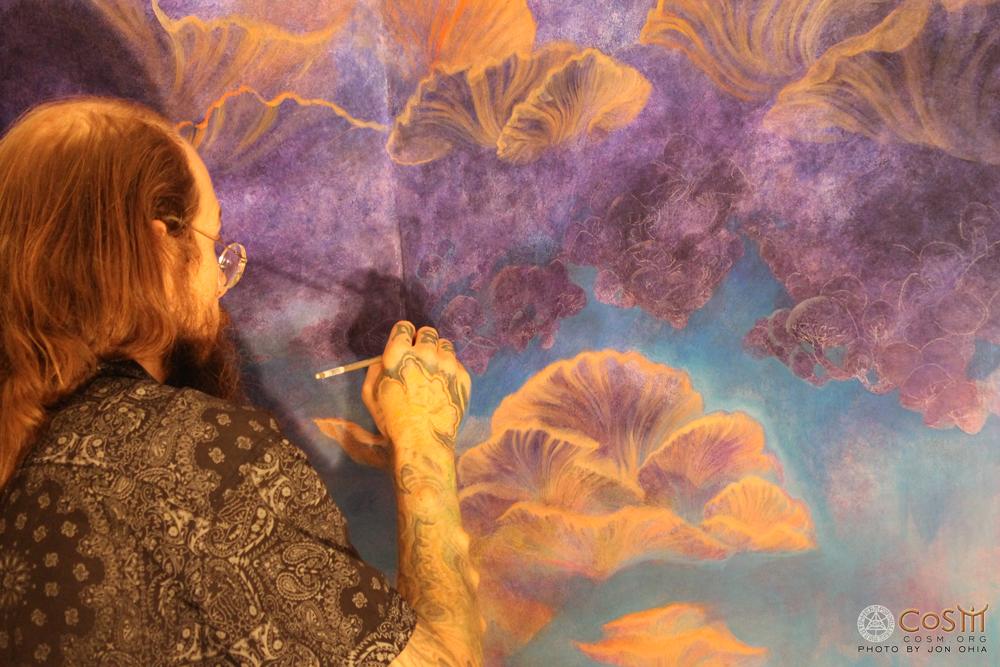 david-heskin-painting-mushroom-cafe-cosm
