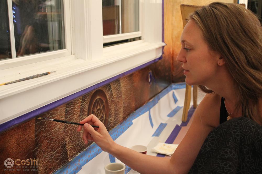 aloria-weaver-painting-mushroom-cafe-cosm-new-york