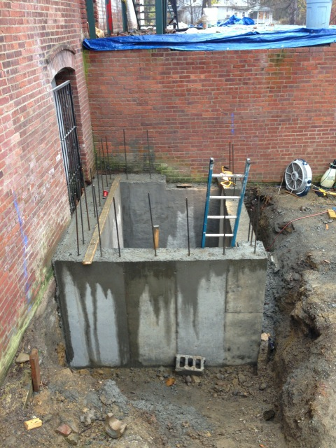 New Entheon Elevator pit poured last week