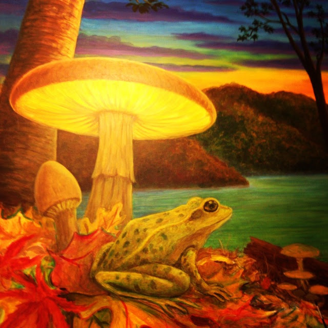 mark henson mushroom cafe mural