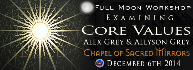 cosm core values full moon workshop alex grey allyson grey