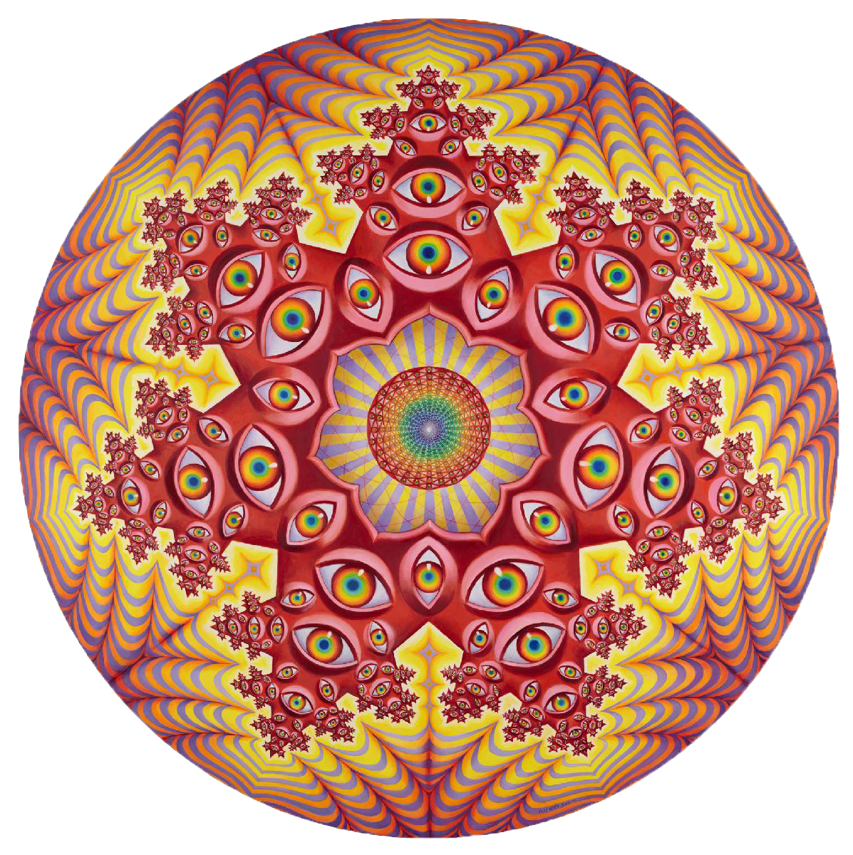 Vision Crystal Tondo by Alex Grey