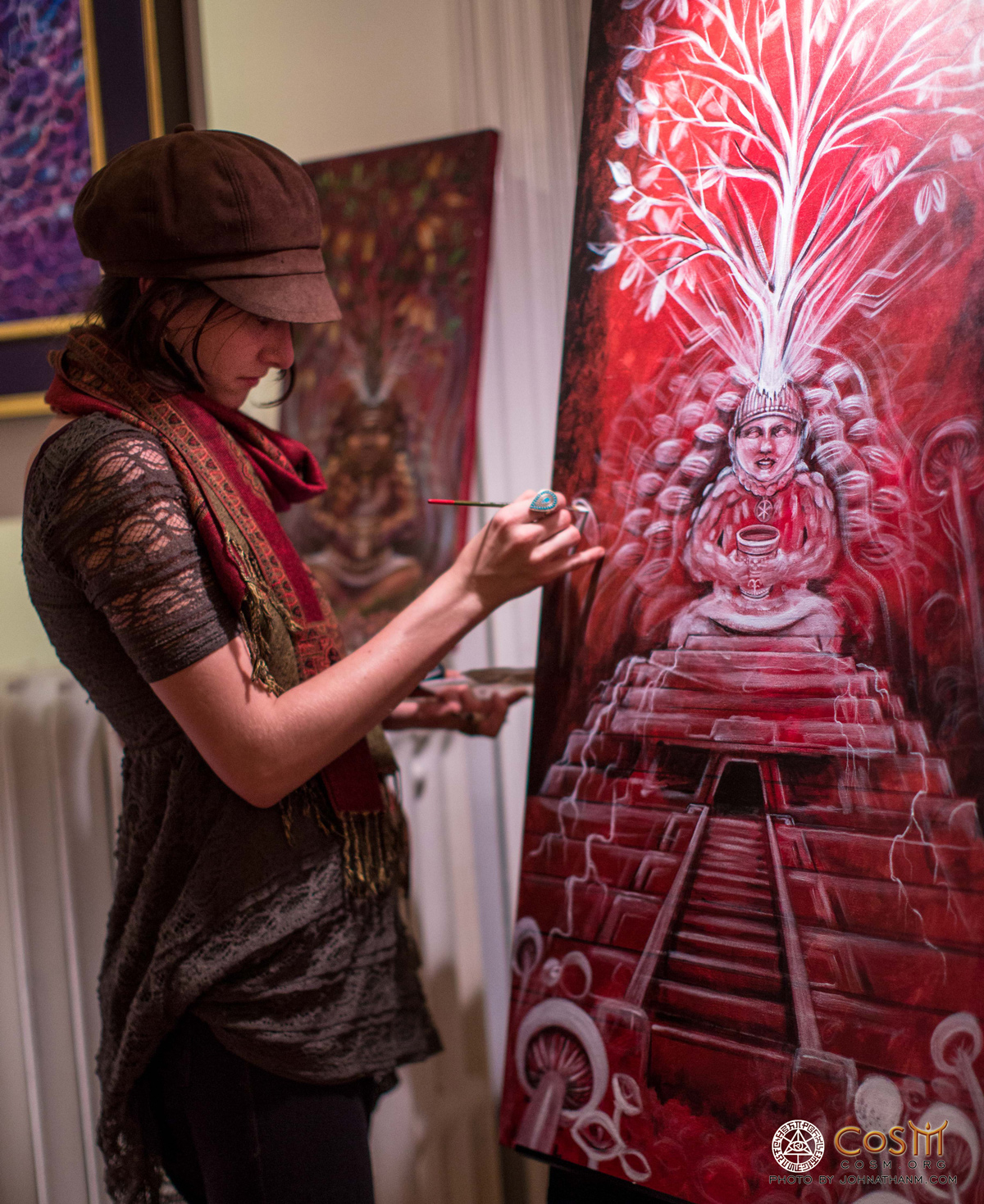 caren-charles-live-painting-chocolate-party-david-wolfe