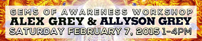 gems of awareness workshop alex grey allyson grey