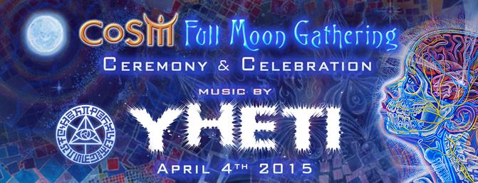 full moon gathering with yheti