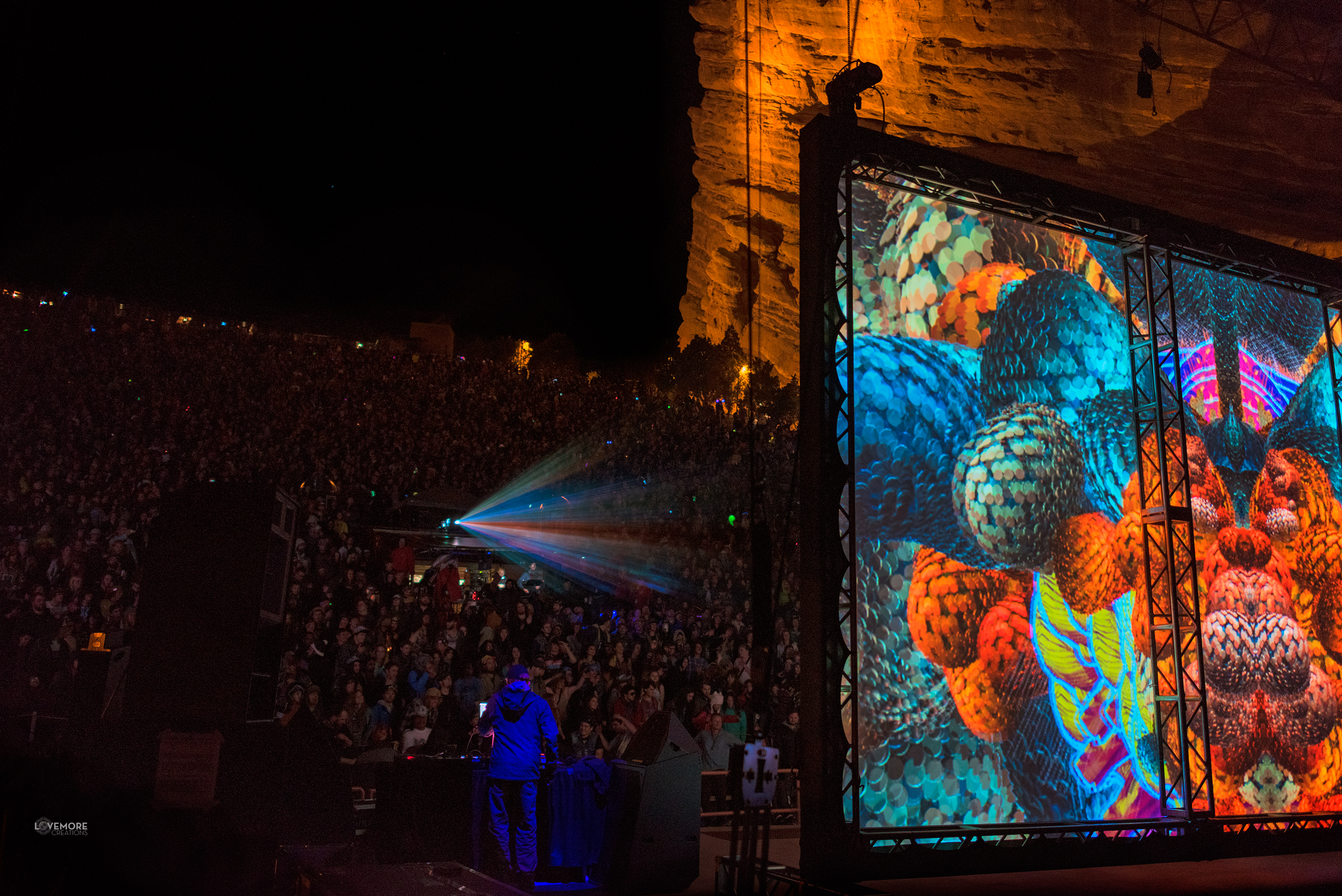 andoid jones live visuals projections tipper ott alex grey allyson grey red rocks