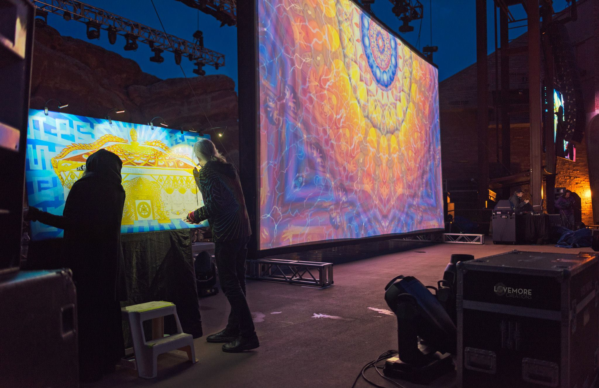 alex grey allyson grey johnathan singer projections live painting tipper ott alex grey allyson grey red rocks